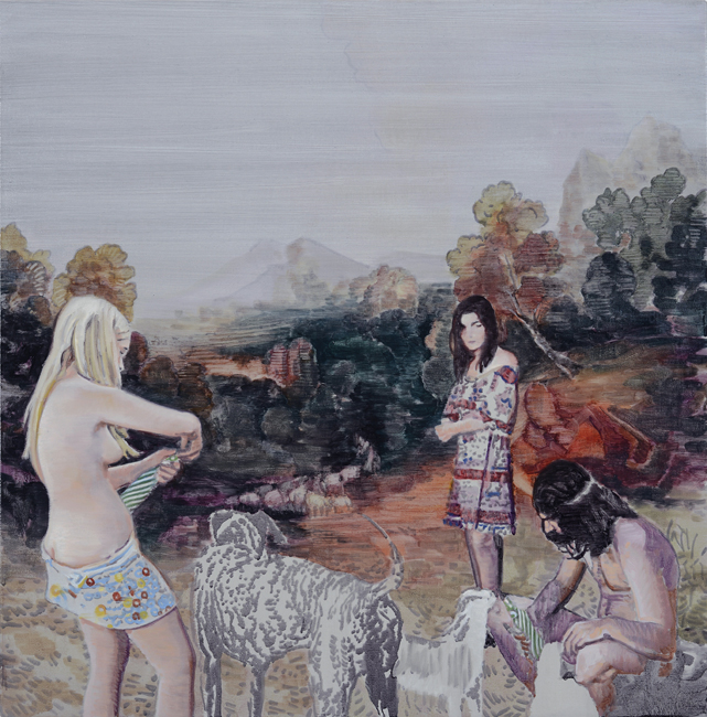 Landscape with goat, by Greg Rook