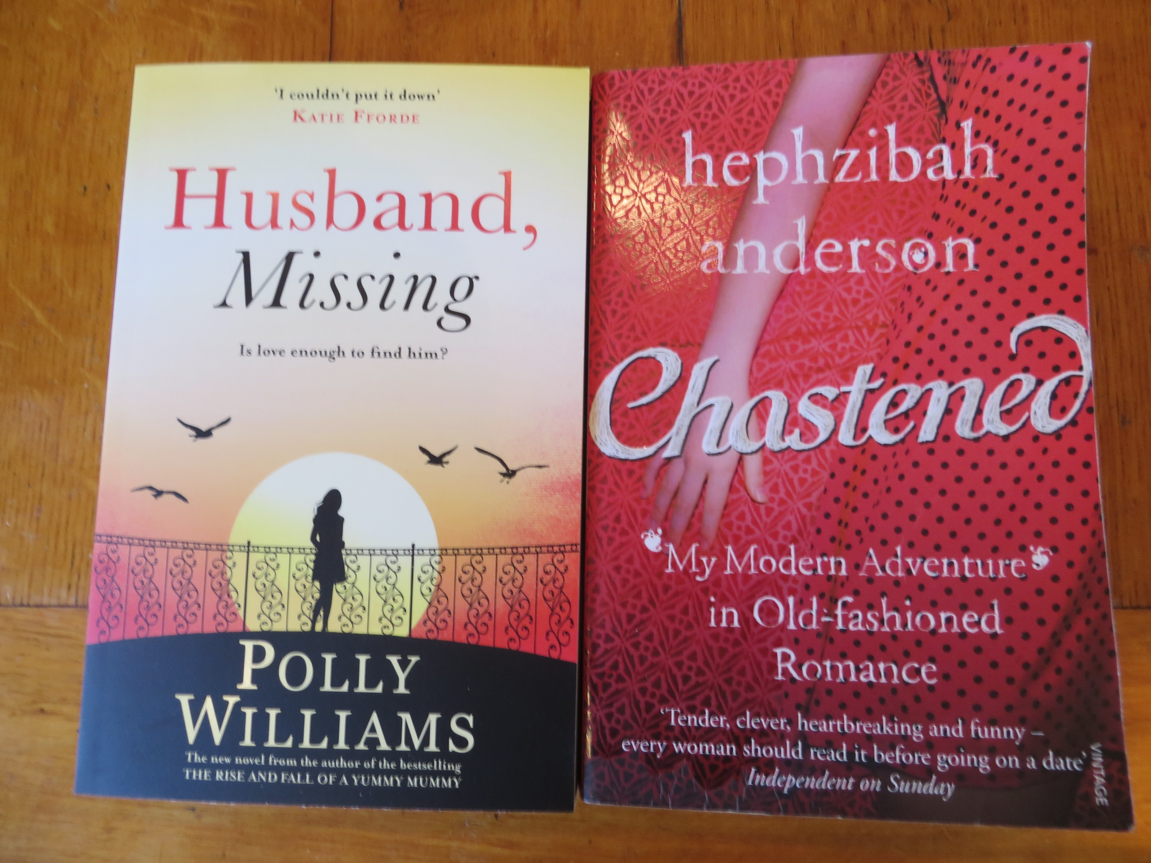 Chastened by Hephzibah Anderson and Husband, Missing by Polly Williams