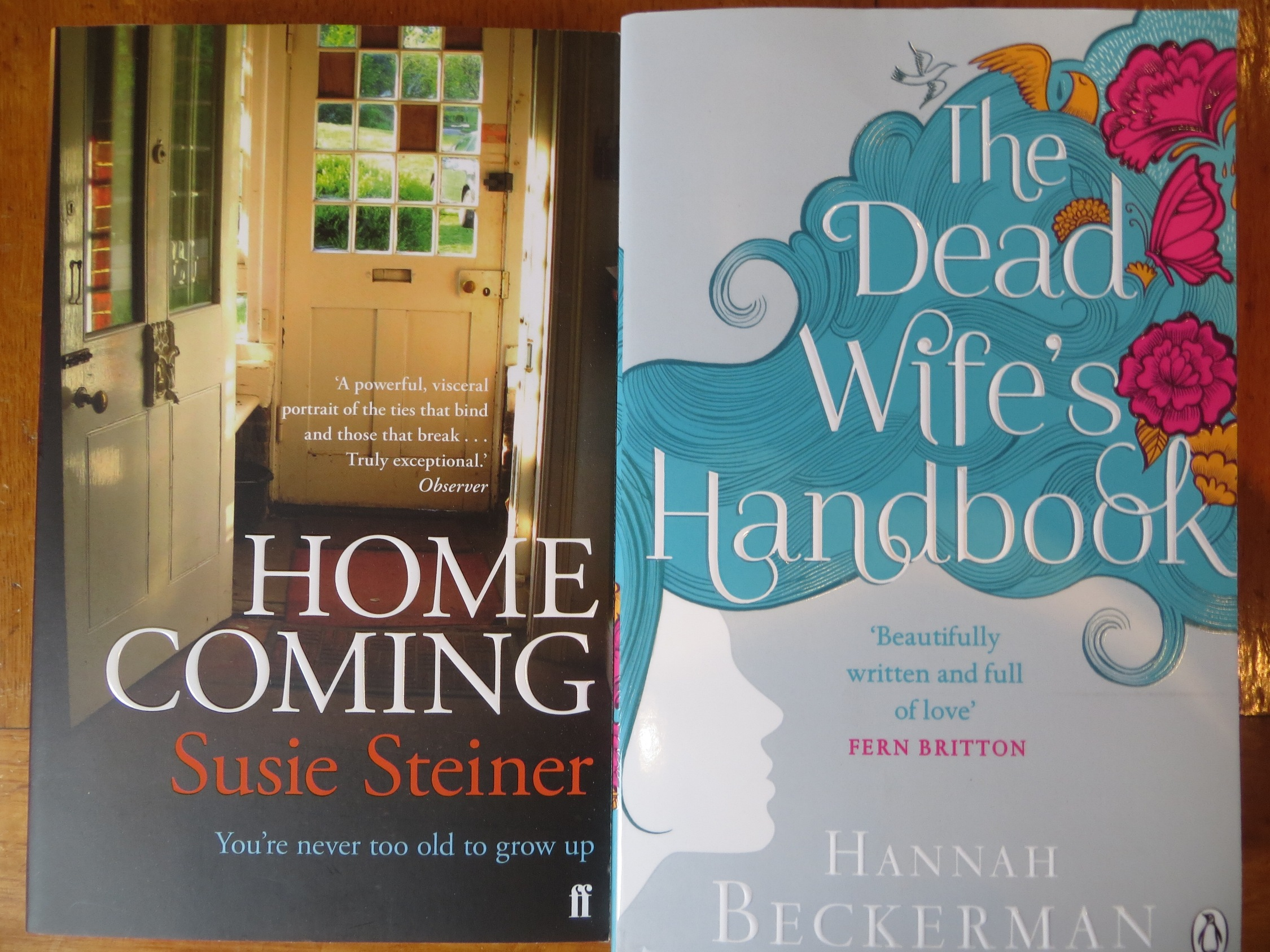 Homecoming by Susie Steiner and The Dead Wife's Handbook by Hannah Beckerman