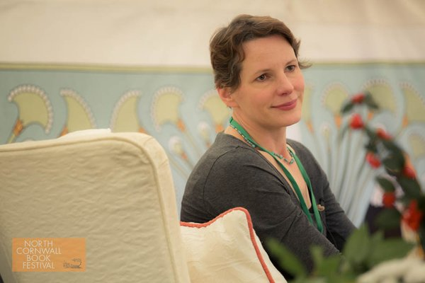 author Ali Mercer at North Cornwall Book Festival