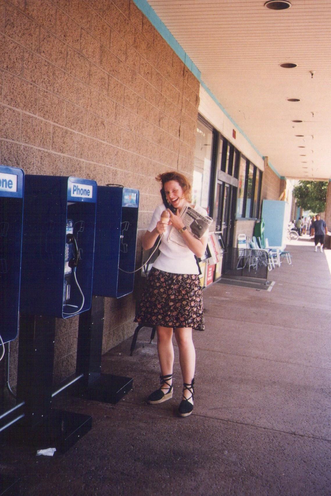 writer Ali Mercer in LA in the 90s